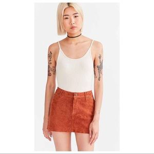Cooperative Colette Suede Leather Mini Skirt 8